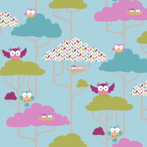 if by air - tree tops, owl - pantone by: ttoz