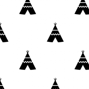 teepees black on white by- kleababy