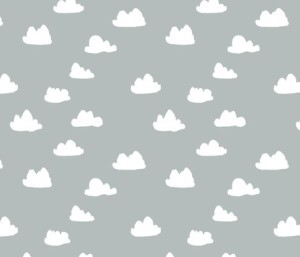 Clouds – Slate Gray by Andrea Lauren fabric by andrea_lauren