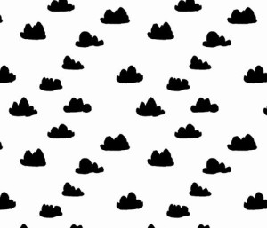 Clouds – Black on white by Andrea Lauren