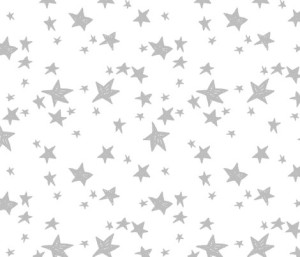 Stars – White and Slate Grey by Andrea Lauren – andrea_lauren