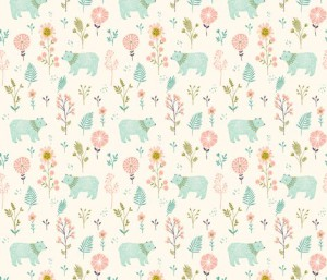 Garden Bears fabric by bethan_janine