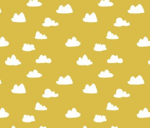 Clouds mustard by Andrea Lauren