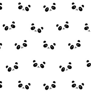 Happy Pandas fabric by kimsa