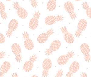 Pineapple – Blush fabric by kimsa