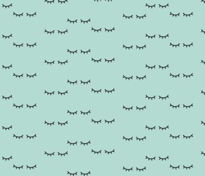 Sleepy Eyes – Mint fabric by kimsa