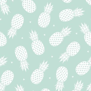 Pineapple – Mint Background fabric by kimsa