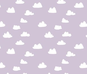 clouds lavender purple fabric by andrea_lauren
