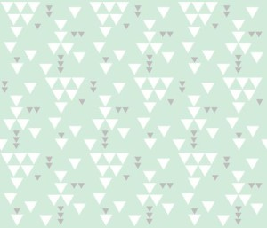 mint gray triangle fall fabric by ivieclothco