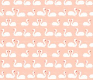 girls sweet swans fabric by andrea_lauren