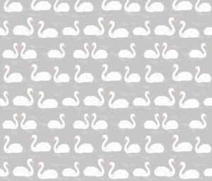 grey  swans fabric by andrea_lauren