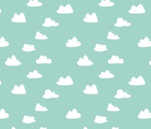 mint green pastel  fabric by andrea_lauren