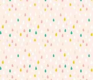 Colorful Raindrops fabric by elancreativeco