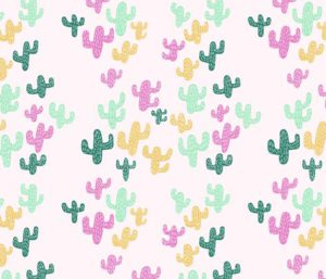 Colorful Saguaro Cactus fabric by elancreativeco