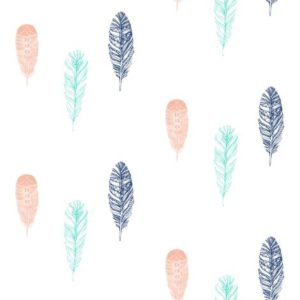 Falling Feathers fabric by ajoyfulriot