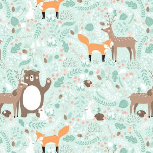 Forest friends fabric by innamoreva