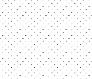 POLKA DOT HEARTS PATTERN fabric by kostolom3000