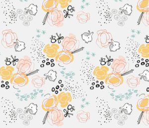 RABBITS fabric by weegallery